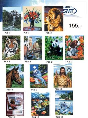 Malování podle čísel Canvas 23x30